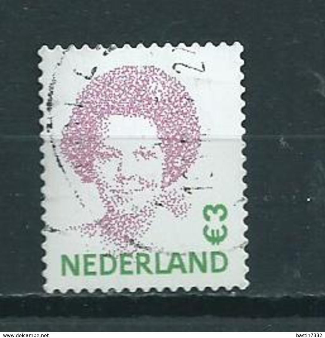 2002 Netherlands Queen Beatrix 3,00 EURO Used/gebruikt/oblitere - Periode 1980-... (Beatrix)