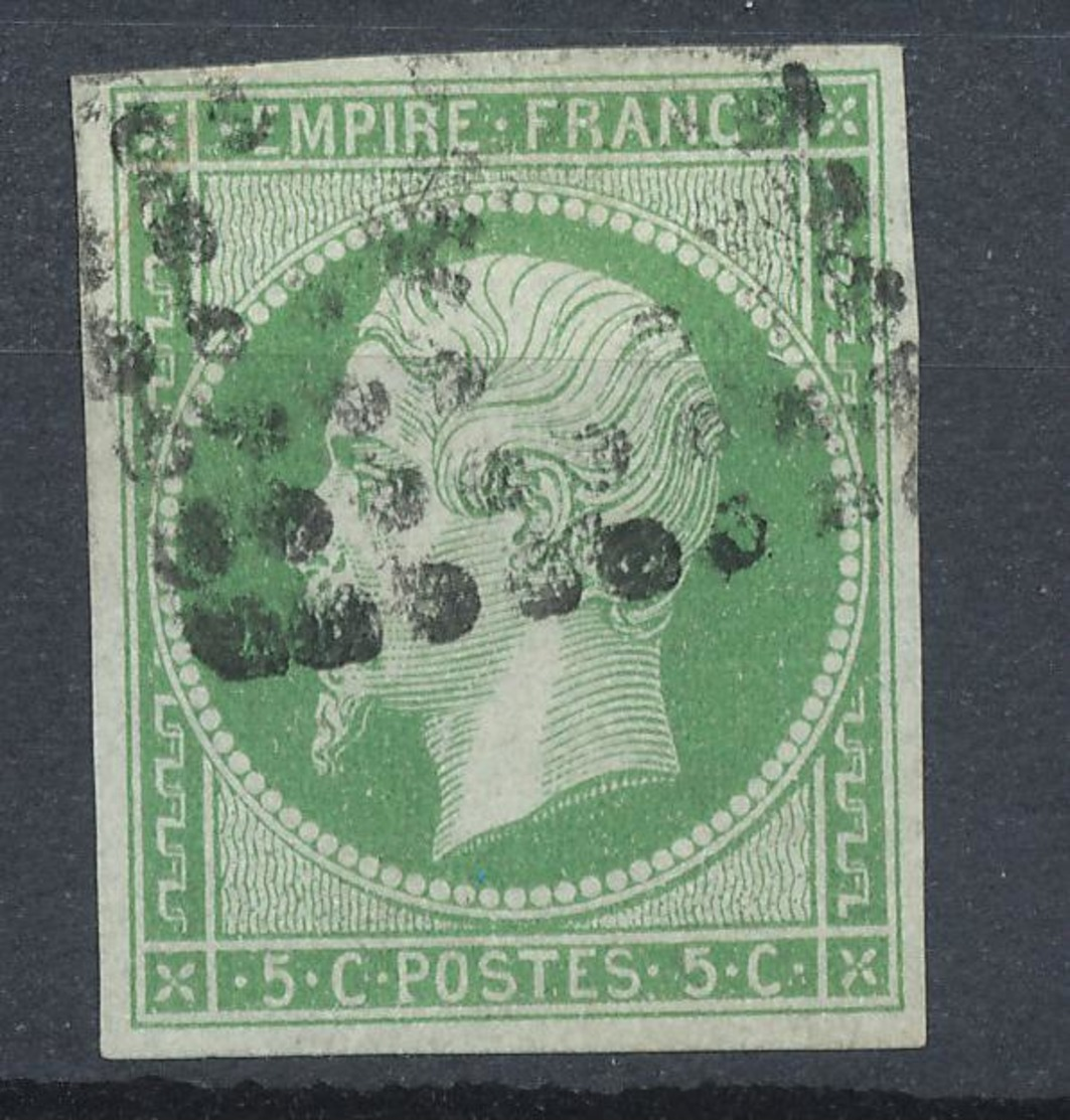 N°12 OBLITERATION LETTRE 1er CHOIX - 1853-1860 Napoléon III