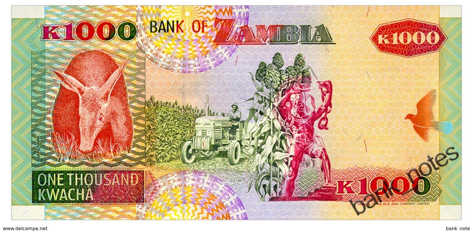ZAMBIA 1000 KWACHA 1992 Pick 40a Unc - Zambia