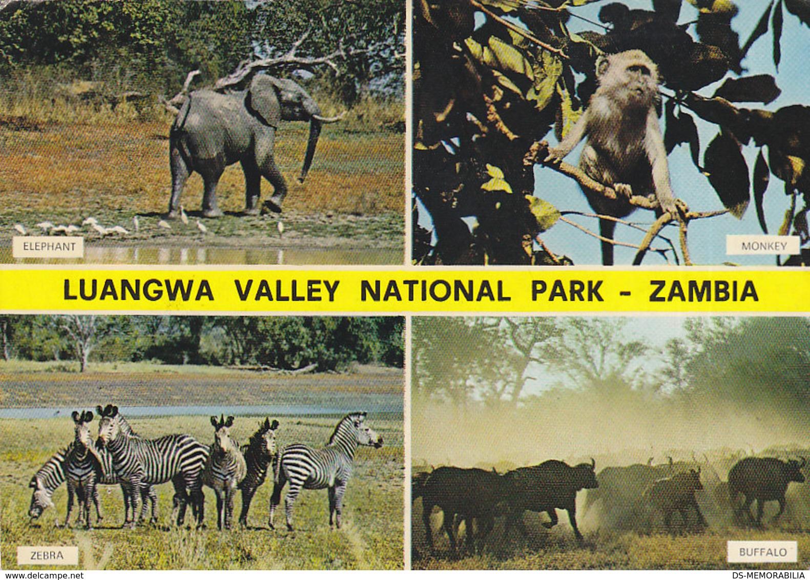 Zambia Luangwa Valley National Park Elephant Zebra 1972 Nice Stamps - Zambia