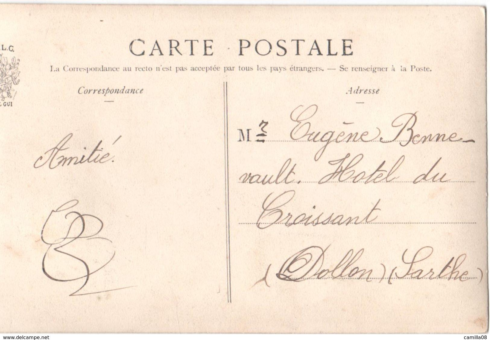 SARTHE.DOLLON.LE BATTAGE DES BLES.JLC.BATTEUSE.JOLI PLAN - France