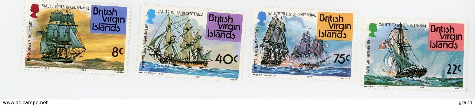 British Virgin 1976-Voiliers-Bicentenaire USA-YT 307/10+B7***MNH - Ships