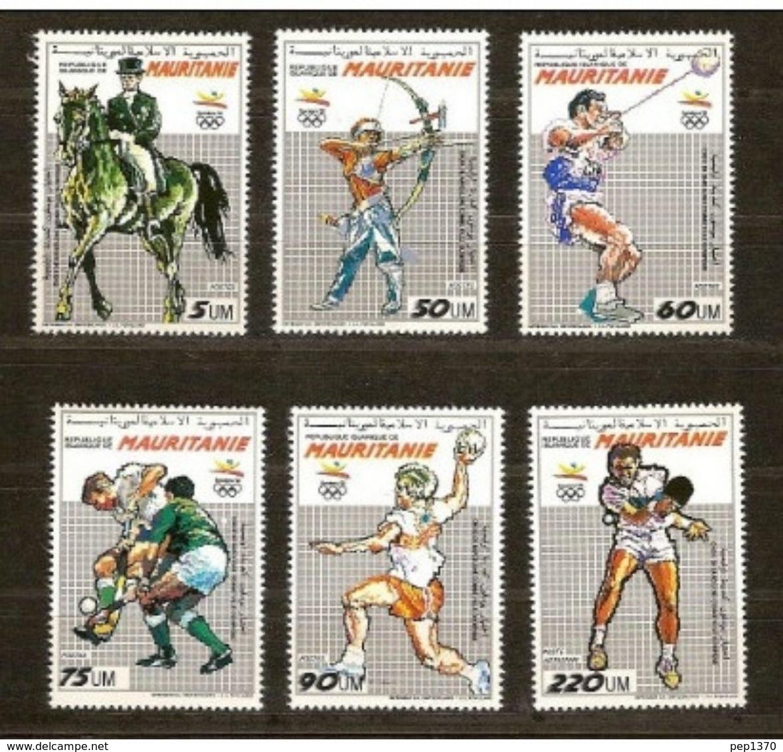 MAURITANIA 1990 - MAURITANIE -OLYMPICS BARCELONA 92 YVERT Nº 636/40 - Balonmano