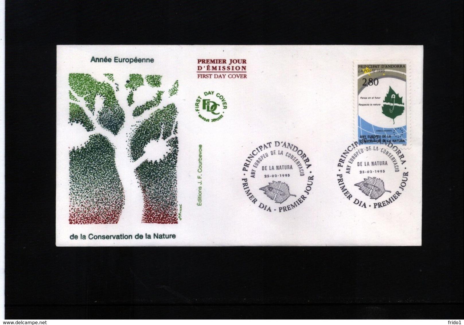 Andorra (French) 1995 Nature Protection FDC - Umweltschutz Und Klima