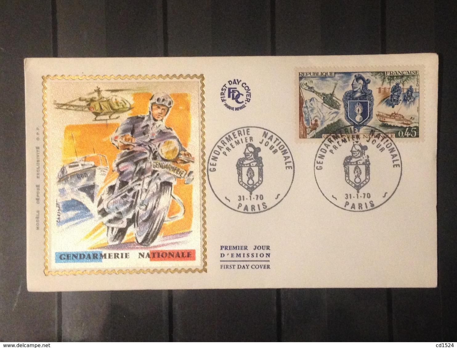 France - 1970 - Enveloppe 1er Jour - Gendarmerie Nationale - Oblitérés