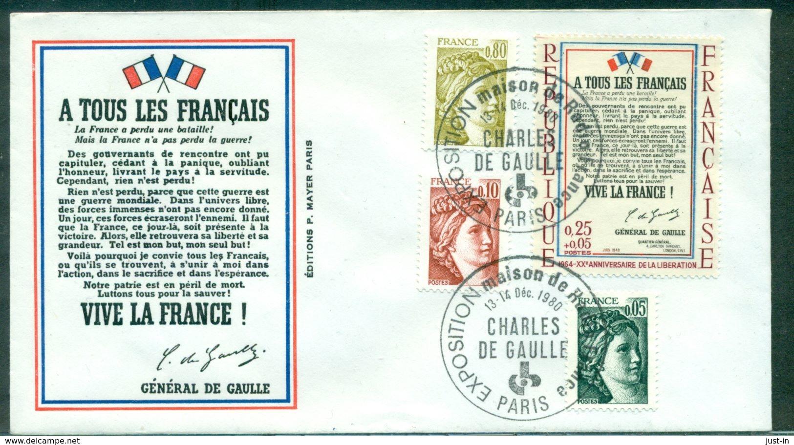 DE GAULLE 1980 Expo De Radio France Paris TB. - De Gaulle (Général)