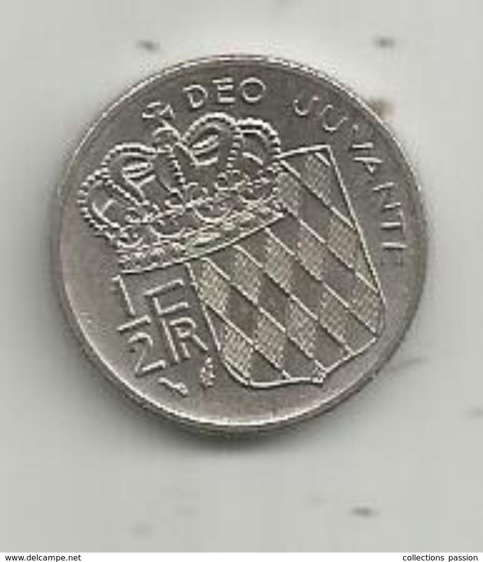 Monnaie, MONACO , 1/2 Franc , 1978 , 2 Scans - 1960-2001 Nouveaux Francs