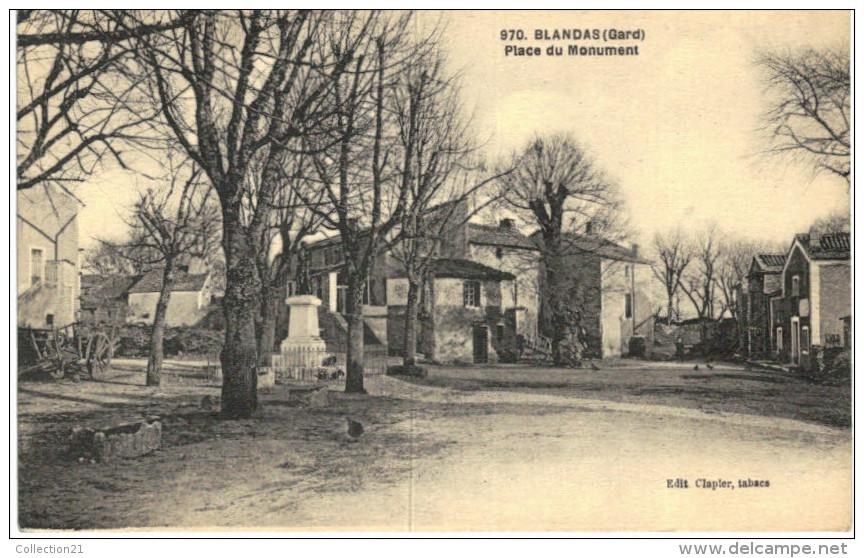 BLANDAS ... PLACE DU MONUMENT - France