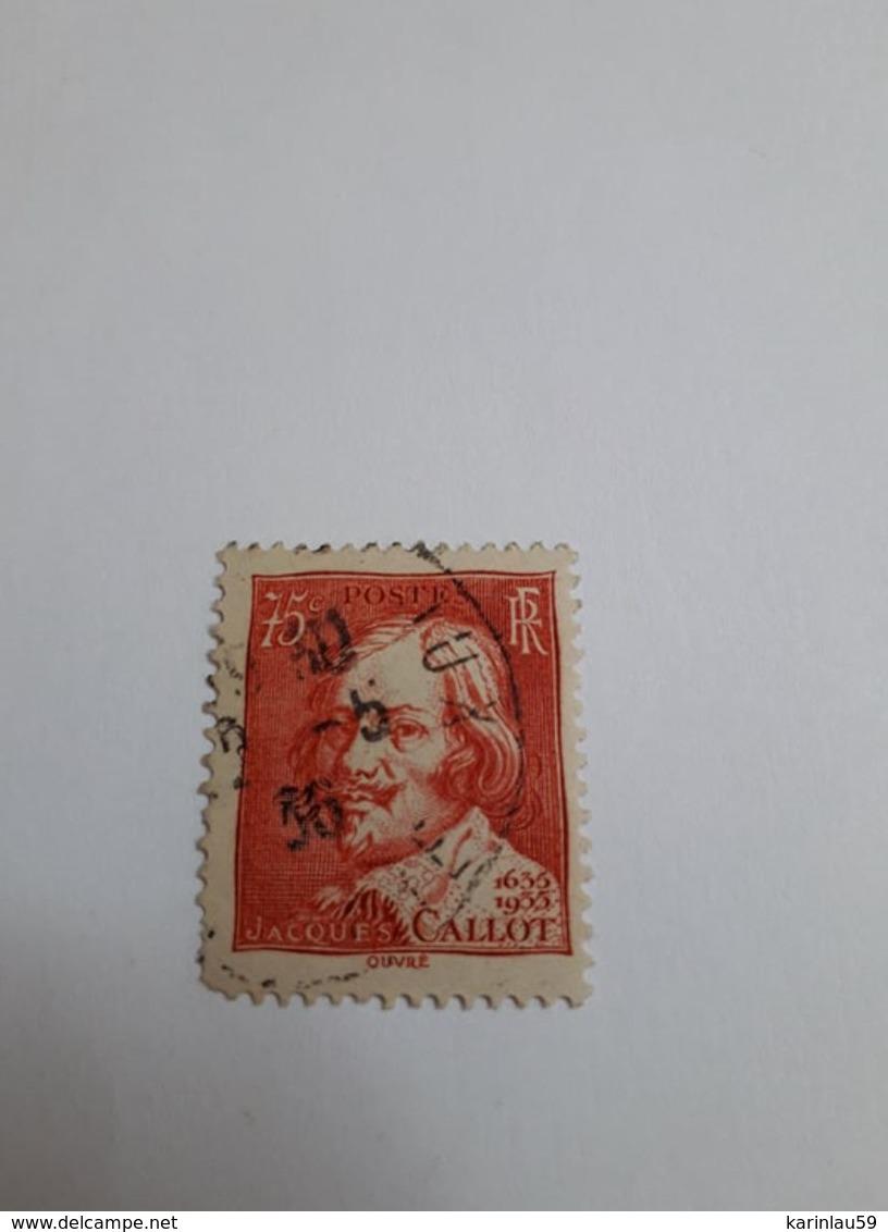 Timbre France  N°306 De 1935 JACQUES CALLOT Oblitéré - France