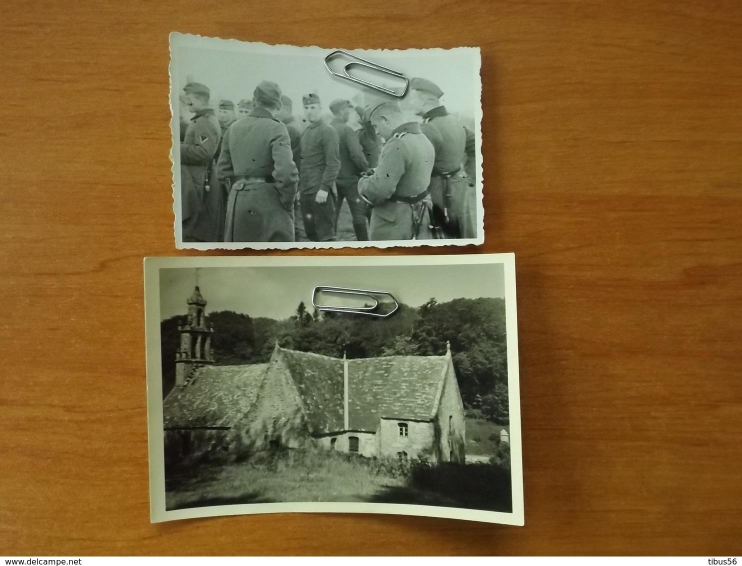 WW2  GUERRE 39 45  TREBABU PHOTOS SOLDATS ALLEMANDS  CHAPELLE SAINT RENAN BREST CHATEAU KERMORVAN VOIR SCANS - Le Conquet