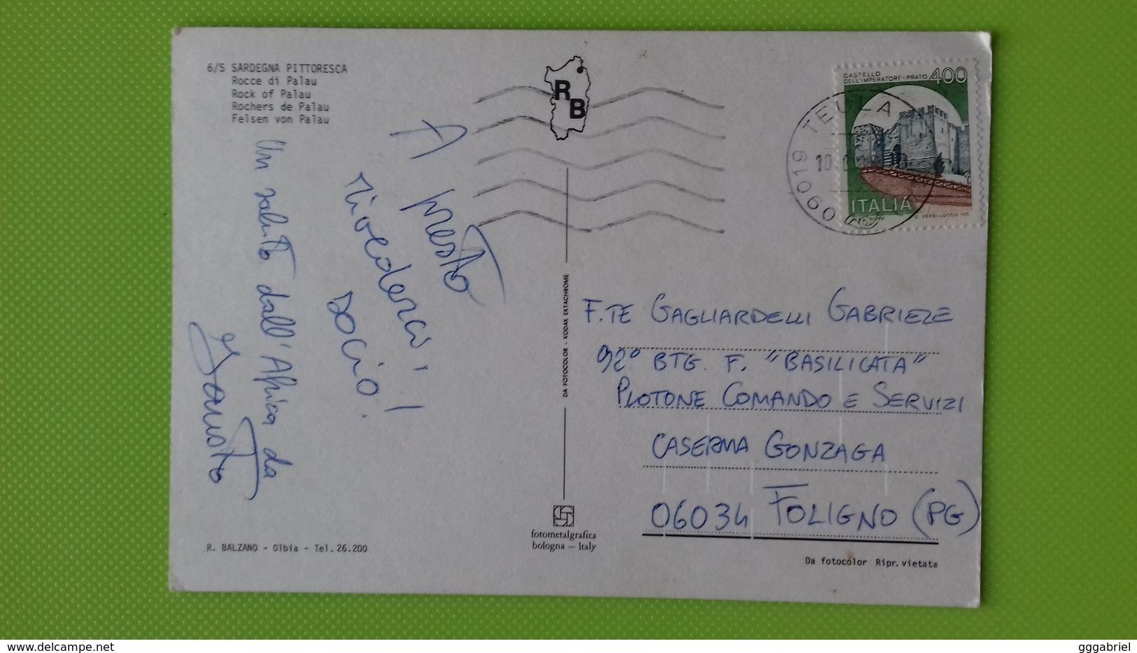 Cartolina ROCCE DI PALAU - SS - Sardegna Pittoresca - Viaggiata - Sassari