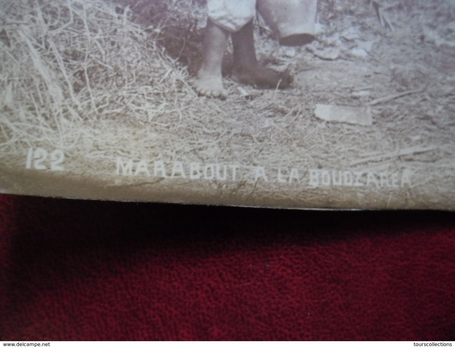 PHOTO ALGERIE Vers 1905 MARABOUT à La BOUZAREAH Banlieu Ouest D'Alger 19,5 Cm X 25,2 Cm - Afrique