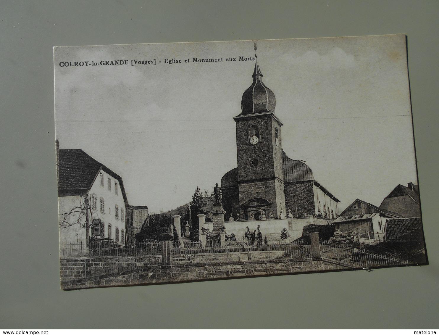 VOSGES COLROY LA GRANDE EGLISE ET MONUMENT AUX MORTS - Colroy La Grande