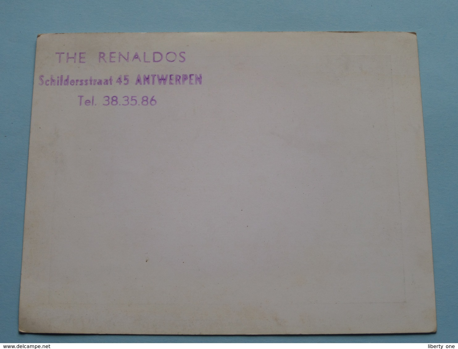 The RENALDOS Dansorkest ( Schildersstraat 45 Antwerpen ) Anno 19?? ( Zie Foto Details ) !! - Plakate & Poster