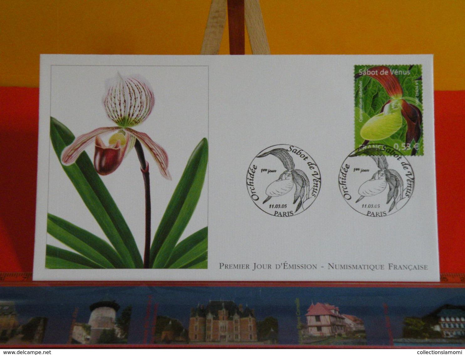 FDC> Orchidée Sabot De Venus > 11.3.2005 (75) Paris - 1er Jour Coté 3,75€ - FDC