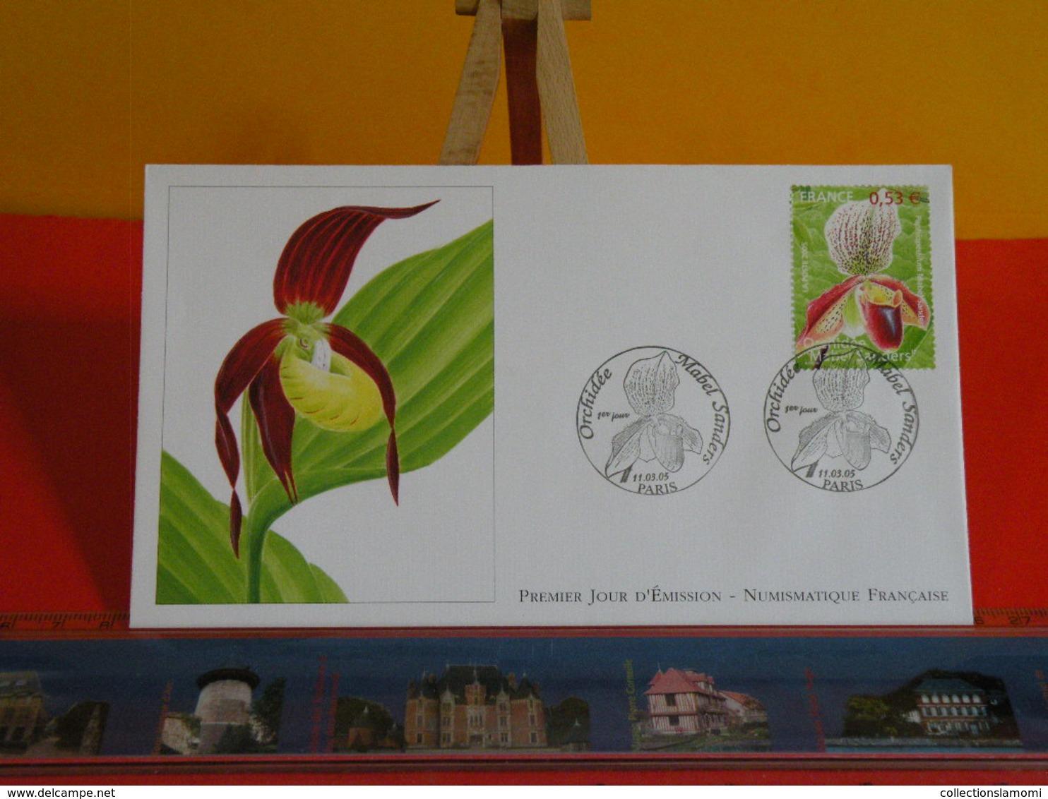 FDC> Orchidée Mabel Sanders > 11.3.2005 (75) Paris - 1er Jour Coté 3,75€ - FDC
