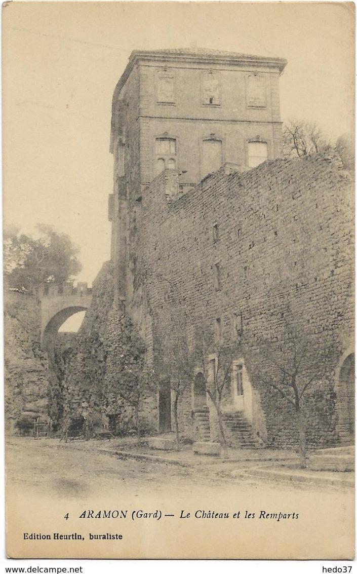 Aramon - Le Château Et Les Remparts - Aramon
