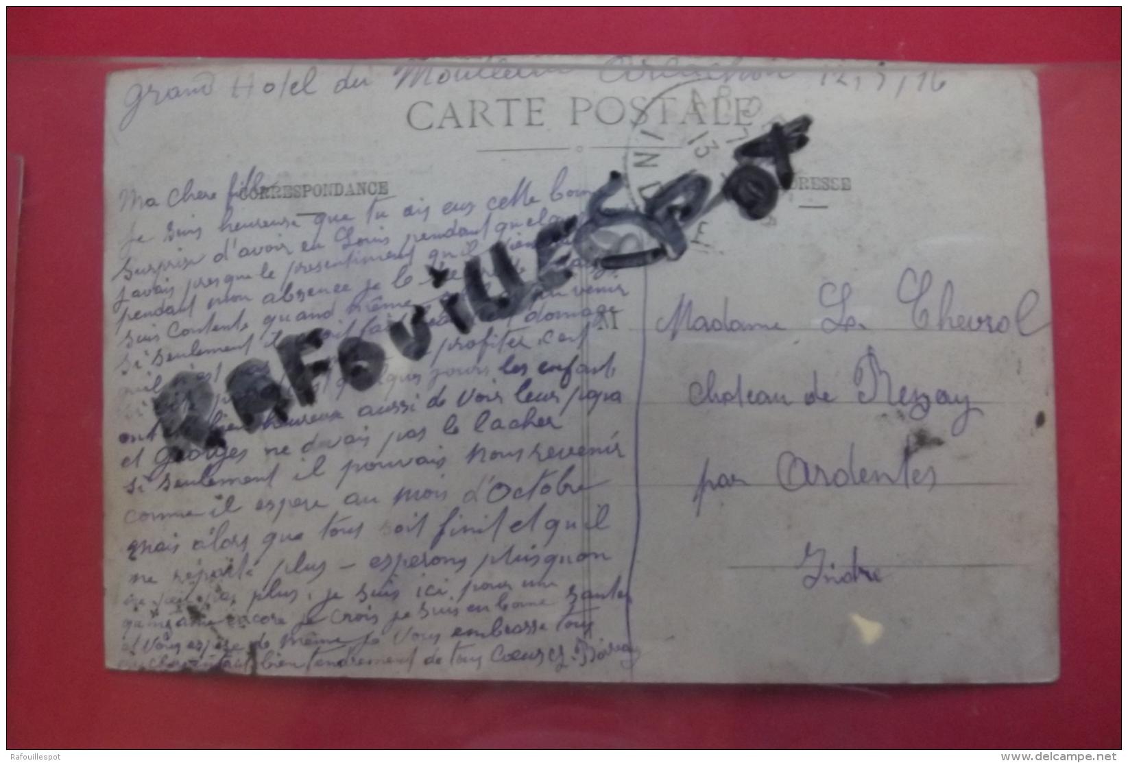 """Cp Arcachon Moulleau Meute Du """" Rallye Guienne"""" Devant L'eglise Notre Dame Des Passes Le Jour De La St Hubert N 11955 - Arcachon"""