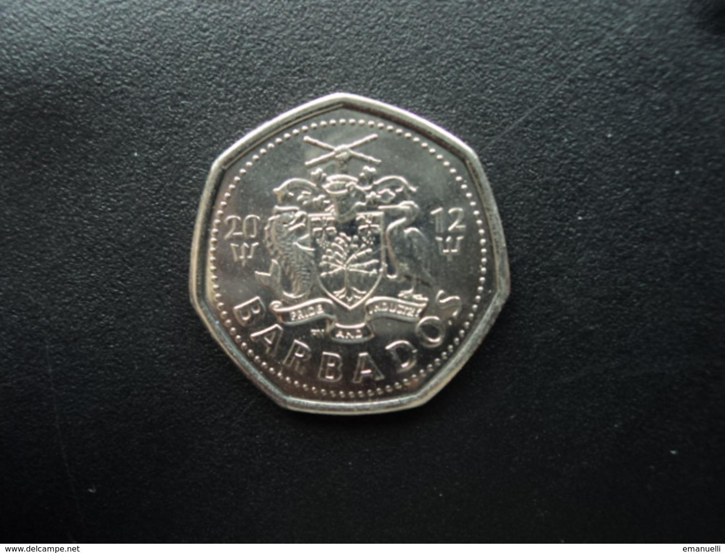 BARBADES : 1 DOLLAR  2012  KM 14.2a *  Non Circulé - Barbades