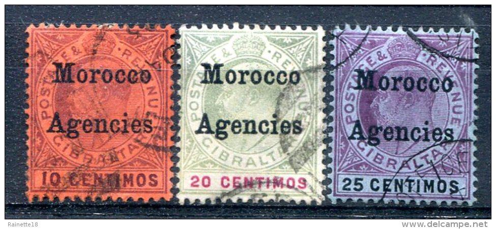Maroc  Bureaux Anglais    10/12   Oblitérés - Morocco Agencies / Tangier (...-1958)
