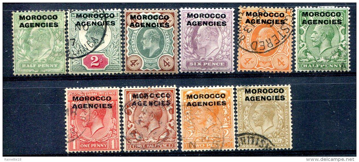 Maroc  Bureaux Anglais    Entre Le 1 Et Le 16  Charnières Et Oblitérés    Tous Les Bureaux - Oficinas En  Marruecos / Tanger : (...-1958