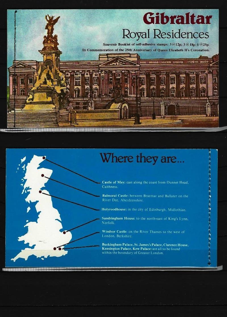 GIBRALTAR Souvenir Booklet Royal Residences Postfrisch 1973 - Gibraltar