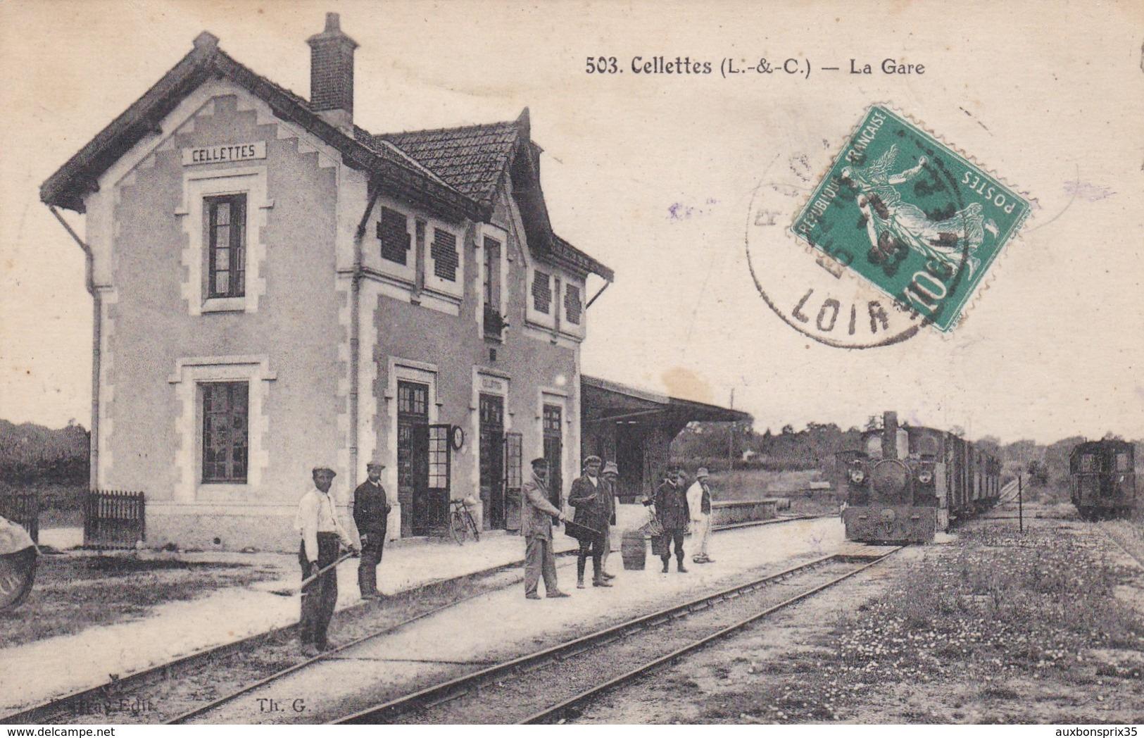 CELLETTES - LA GARE - TRAIN - 41 - Other Municipalities