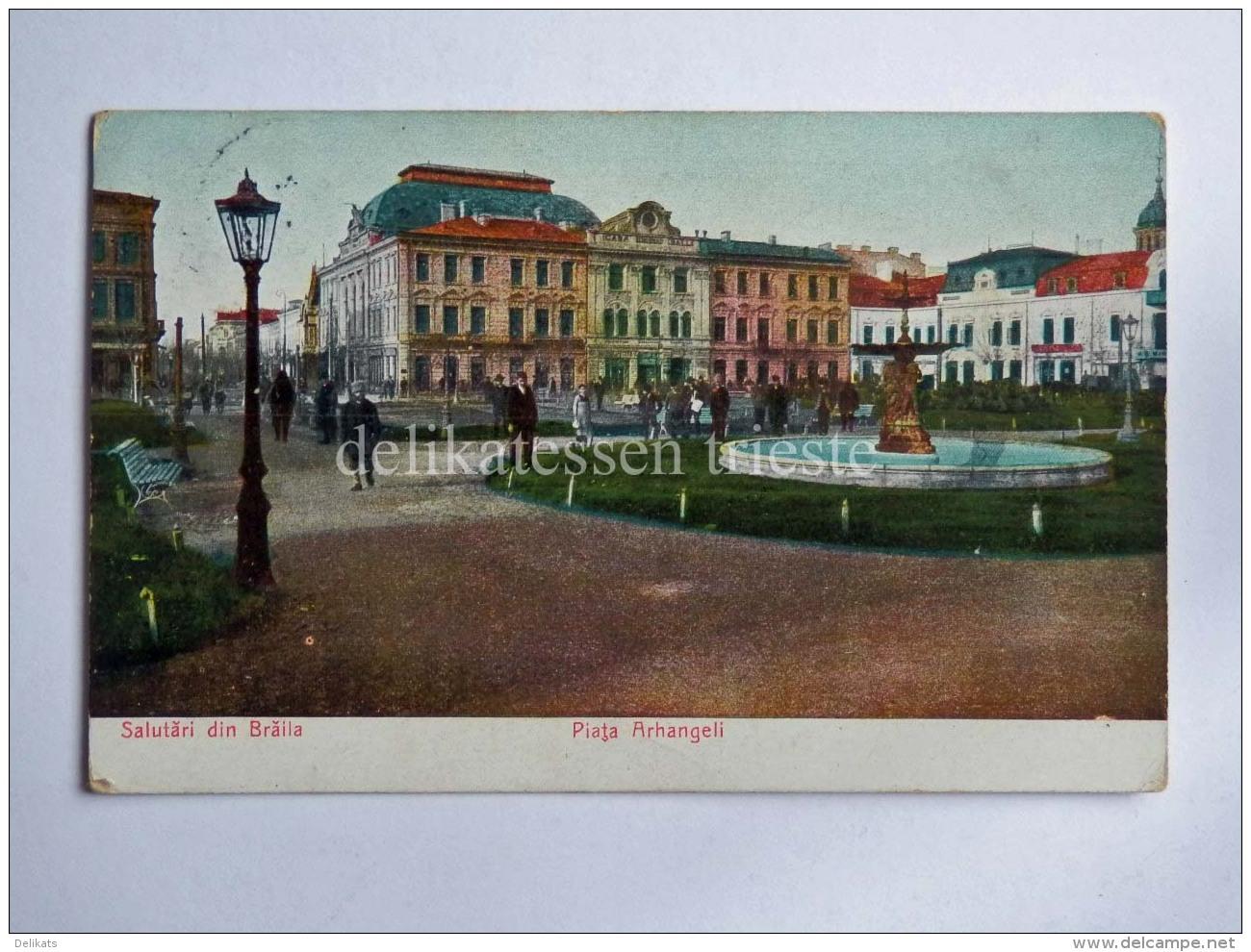 ROMANIA BRAILA Salutari Din Brăila Piata Arhangeli AK Old Postcard - Romania
