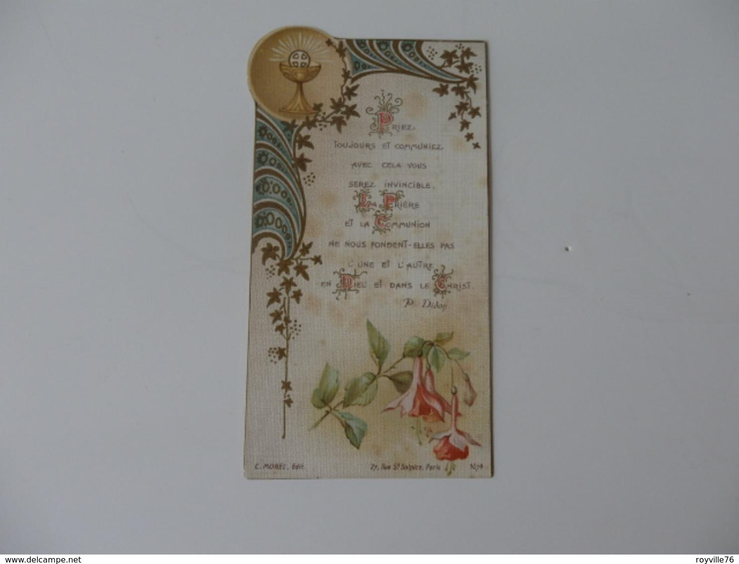 Image Pieuse Souvenir De La Communion En L'église St-Pierre De Macon (71) De Lucienne Trillat. - Religion & Esotérisme