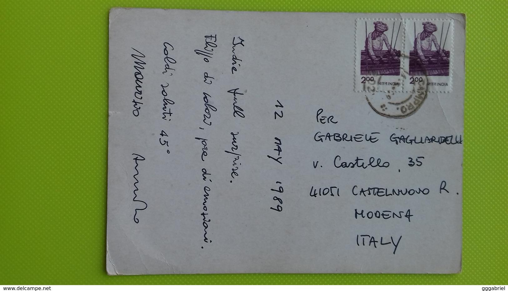Cartolina INDIA - Volto Di Ragazza - Viaggiata - Postcard - India