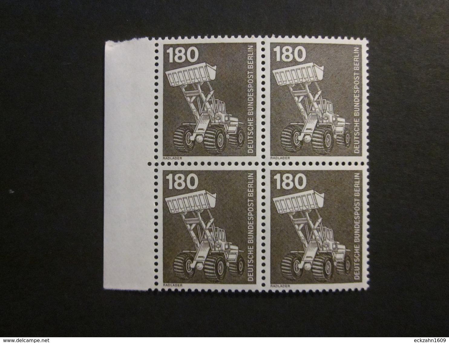 Berlin Nr. 585 Viererblock Rand Postfrisch**  (B21) - Ungebraucht