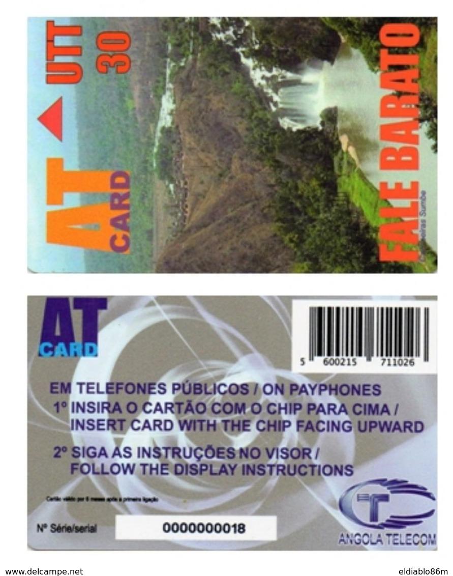 ANGOLA - FALE BARATO - TEST CARD NO CHIP - VERY RARE - Angola