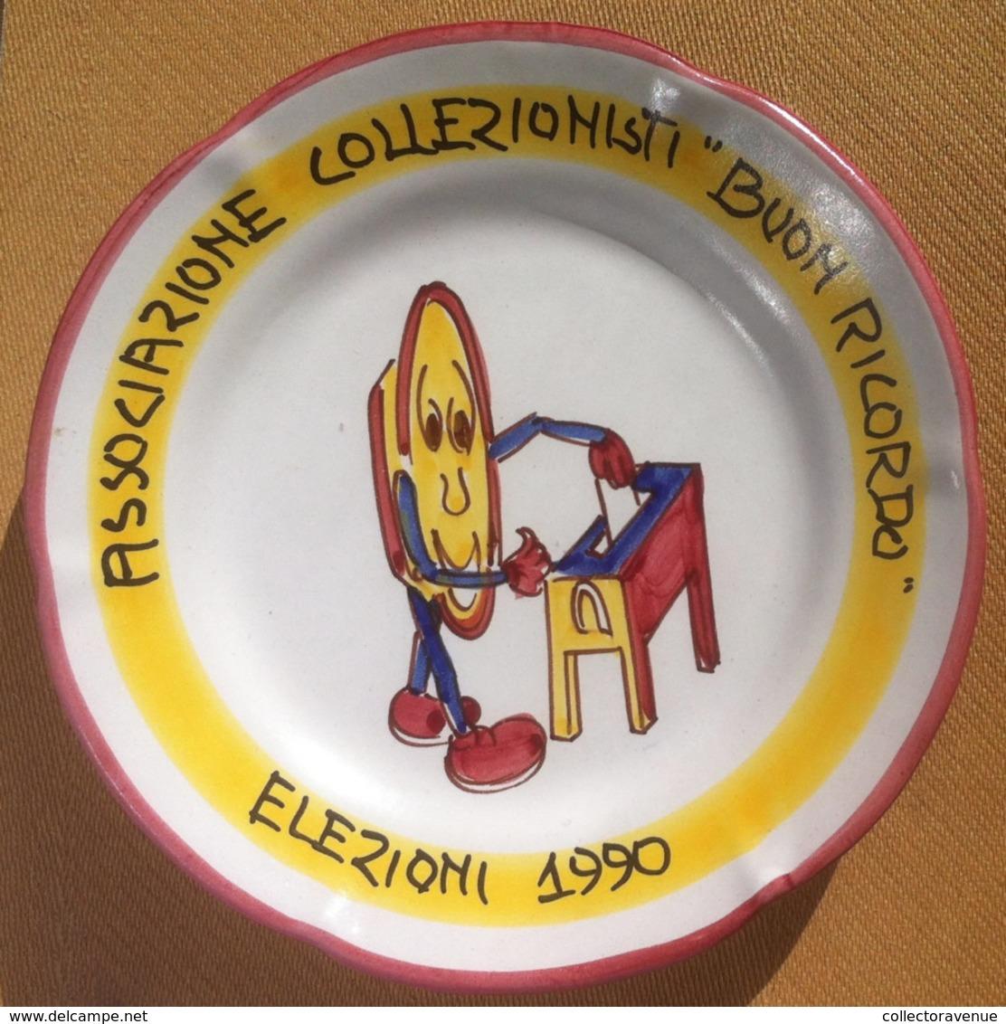 Piatto Buon Ricordo - Associazione Collezionisti - Elezioni 1990 - Oggetti 'Ricordo Di'