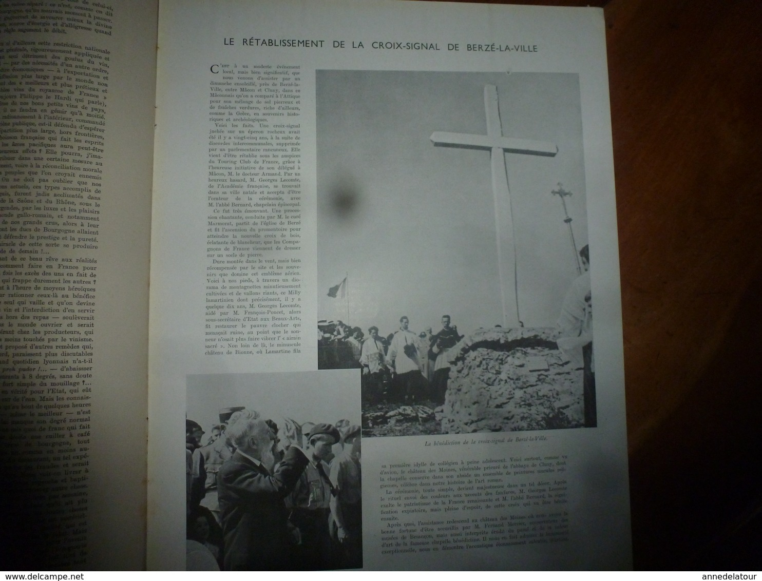 30 Août 1941   La Croix De Berzé-la-Ville ; L'aviation Allemande ; Les Orchidées ; Etc - Journaux - Quotidiens