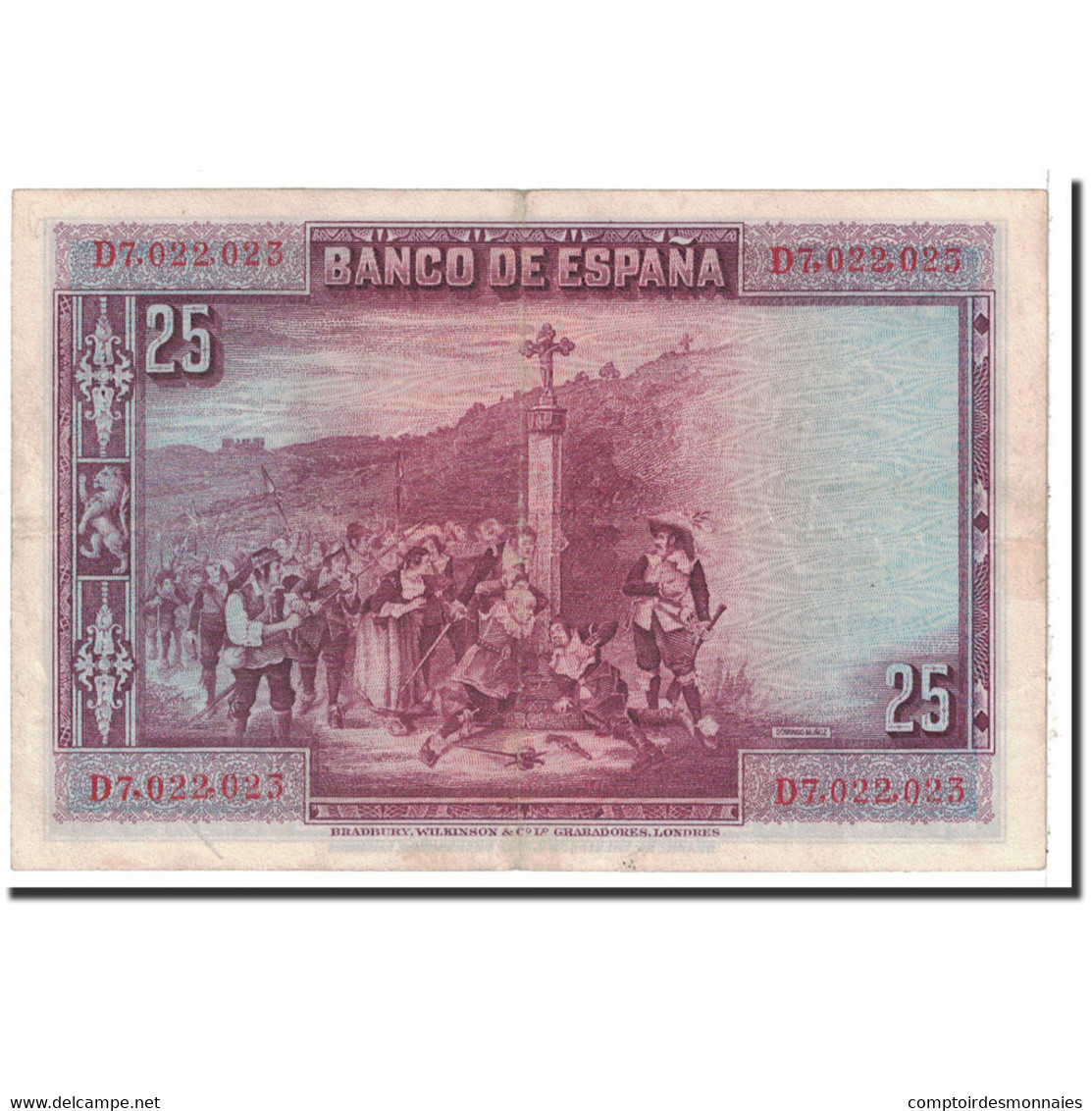 Billet, Espagne, 25 Pesetas, 1928, 1928-08-15, KM:74b, TTB+ - [ 1] …-1931 : Eerste Biljeten (Banco De España)