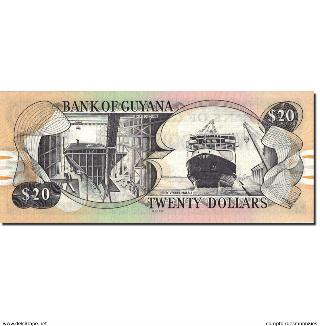Billet, Guyana, 20 Dollars, 1996-1999, Undated (1996), KM:30e, NEUF - Guyana