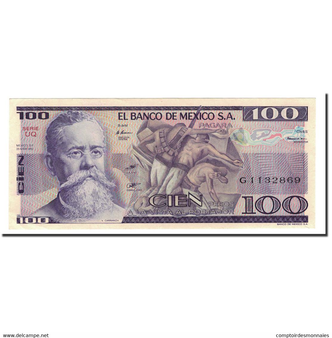 Billet, Mexique, 100 Pesos, 1981-1982, 1982-03-25, KM:74c, SPL+ - Mexique