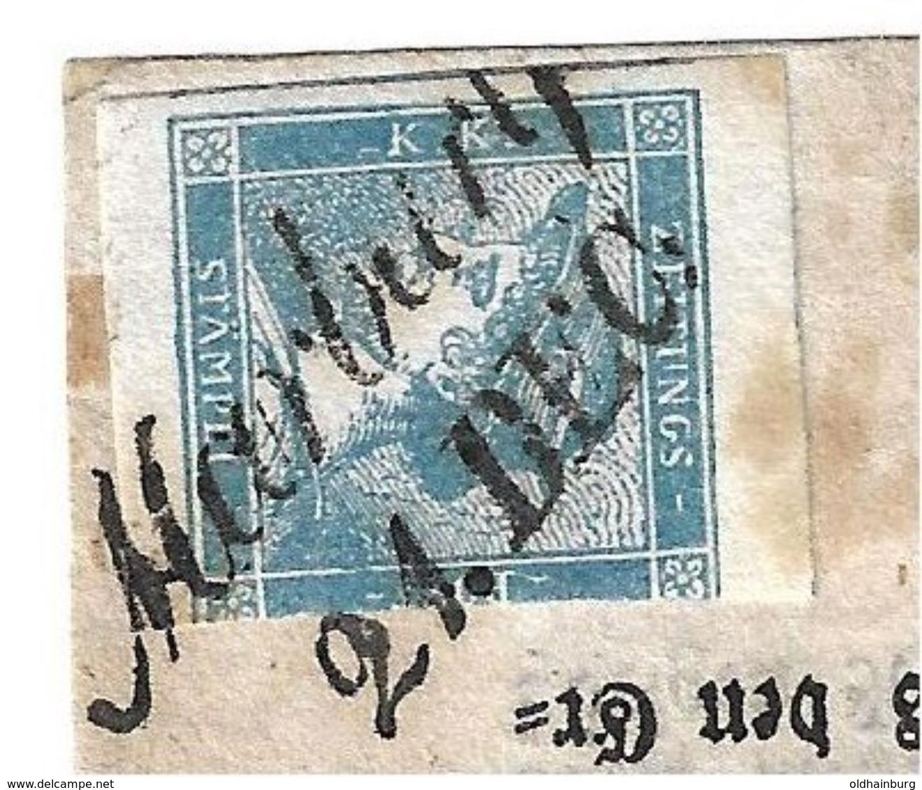1557: Zeitungsmarke 1851 Auf Zeitung Wiener Bote 20.12.1851, Stp. Marburg 21. Dec - Briefe U. Dokumente