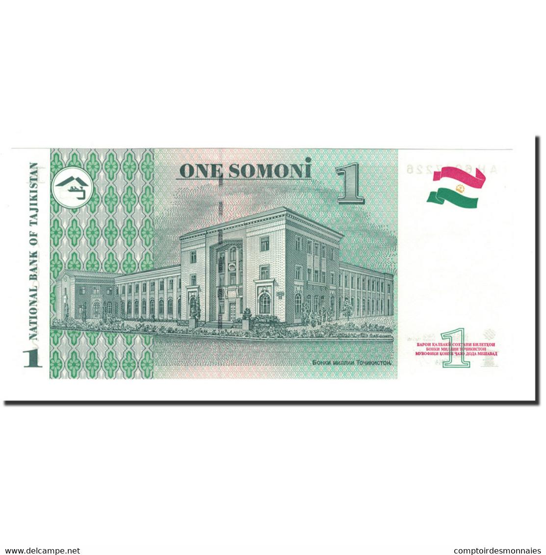 Billet, Tajikistan, 1 Somoni, 1995, 2000, KM:14A, NEUF - Tadjikistan