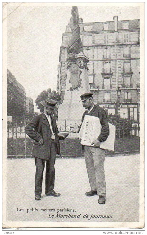 75 Les Petits Métiers Parisiens  Le Marchand De Journaux - Petits Métiers à Paris