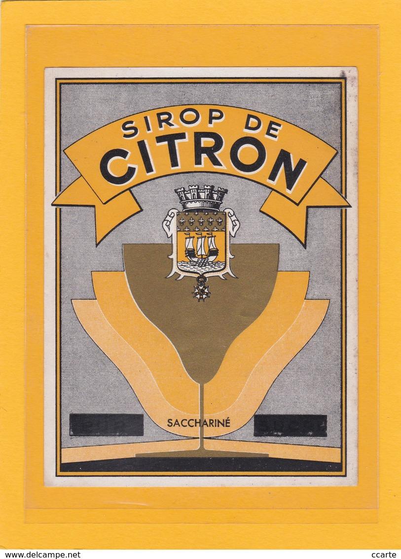 2 ANCIENNES ETIQUETTES NEUVES DE SIROP ( Sirop De Citron Et Grenadine) - Etiquettes