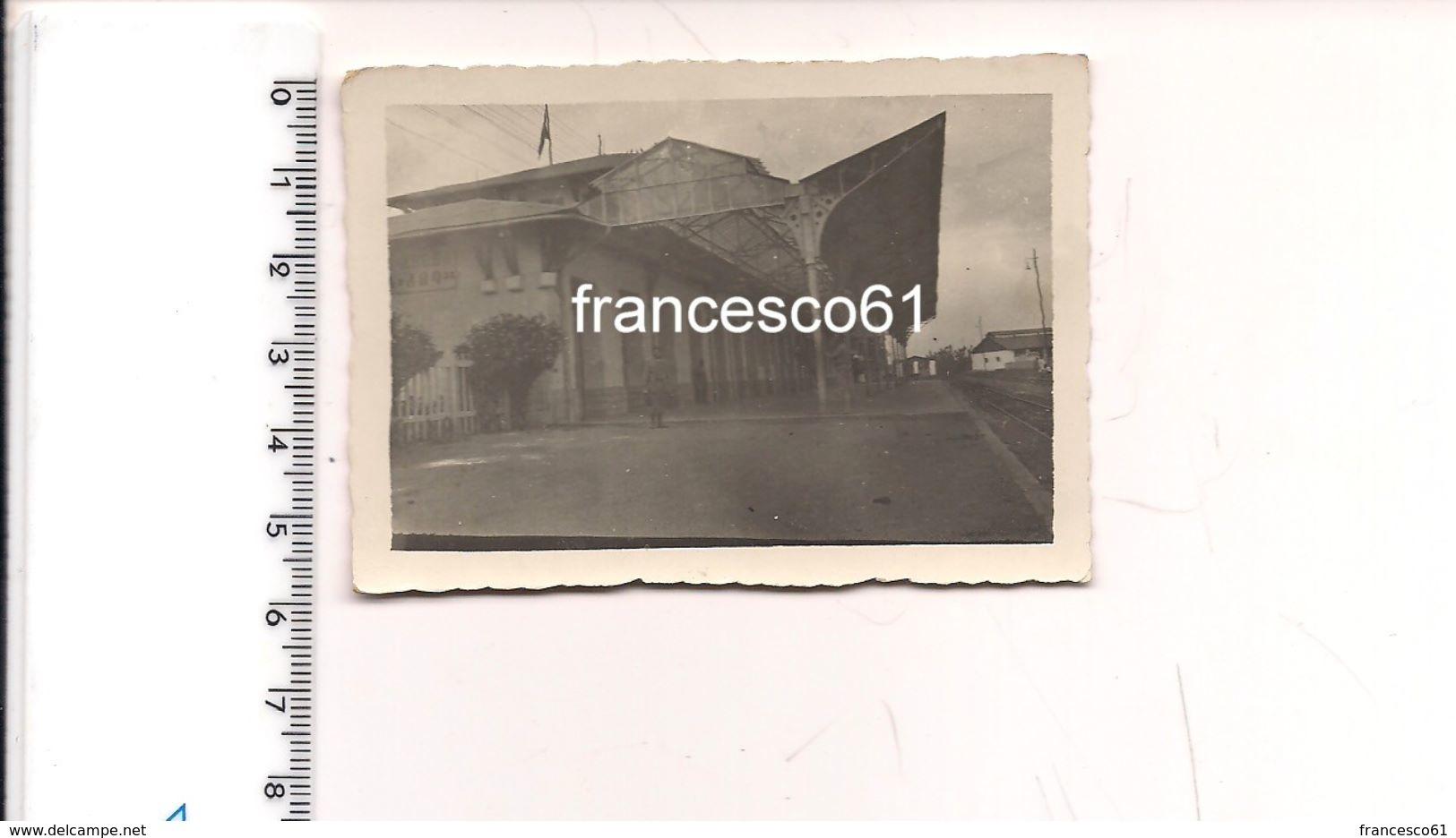 2049) Foto Stazione Ferroviaria ADDIS ABEBA ETIOPIA COLONIE - Guerra, Militari