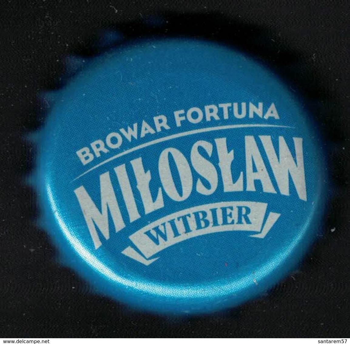 Pologne Capsule Bière Beer Crown Cap Browar Fortuna Miloslaw Witbier - Bière