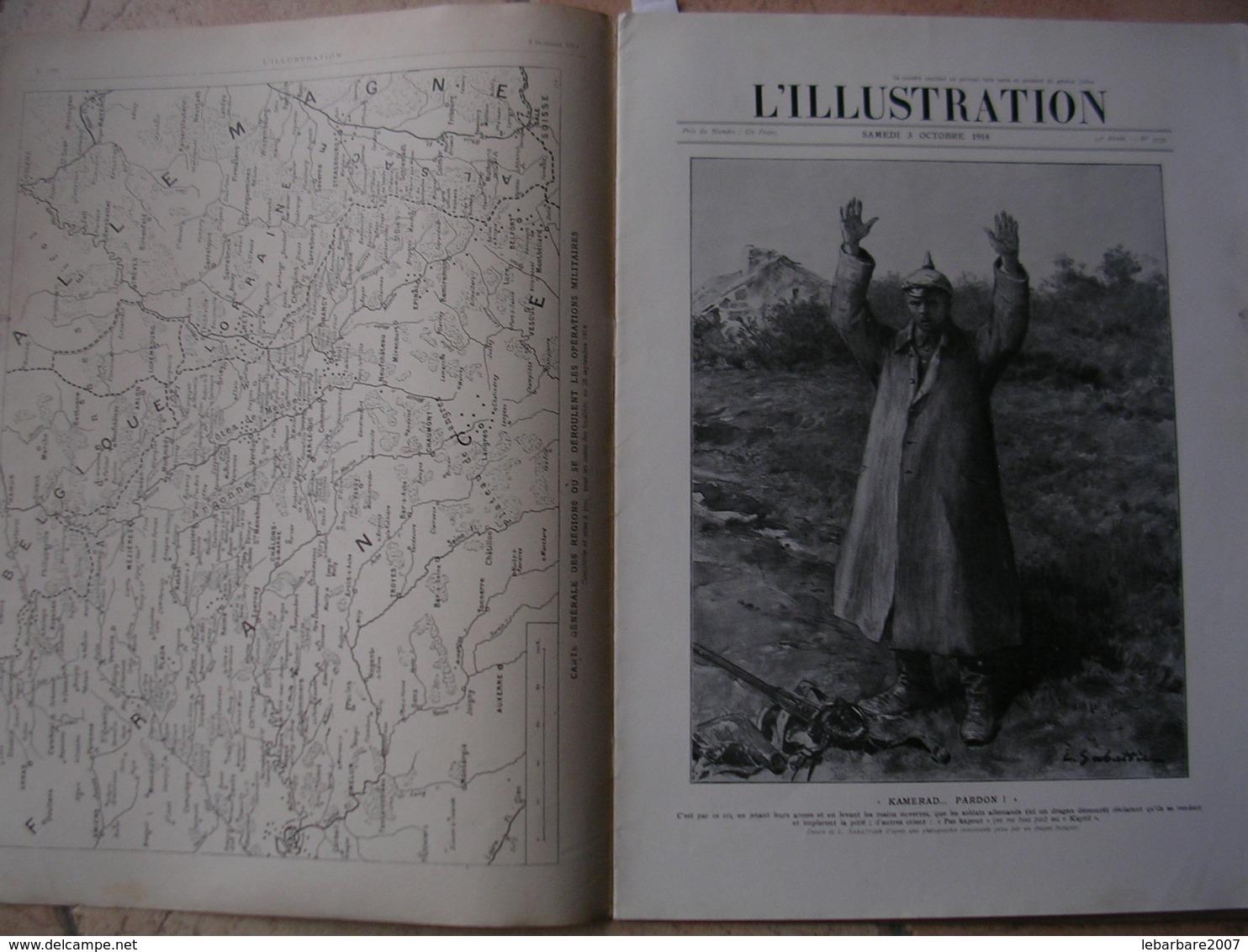 L'ILLUSTRATION  N° 3735 - 3 OCTOBRE 1914 - Zeitungen