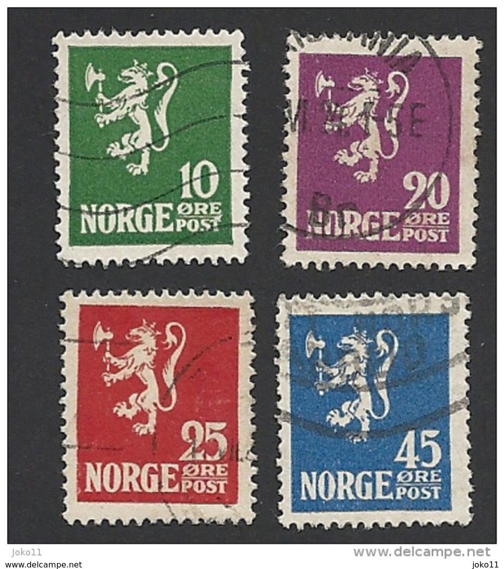 Norwegen, 1922, Mi.-Nr. 105-108, Gestempelt - Norwegen
