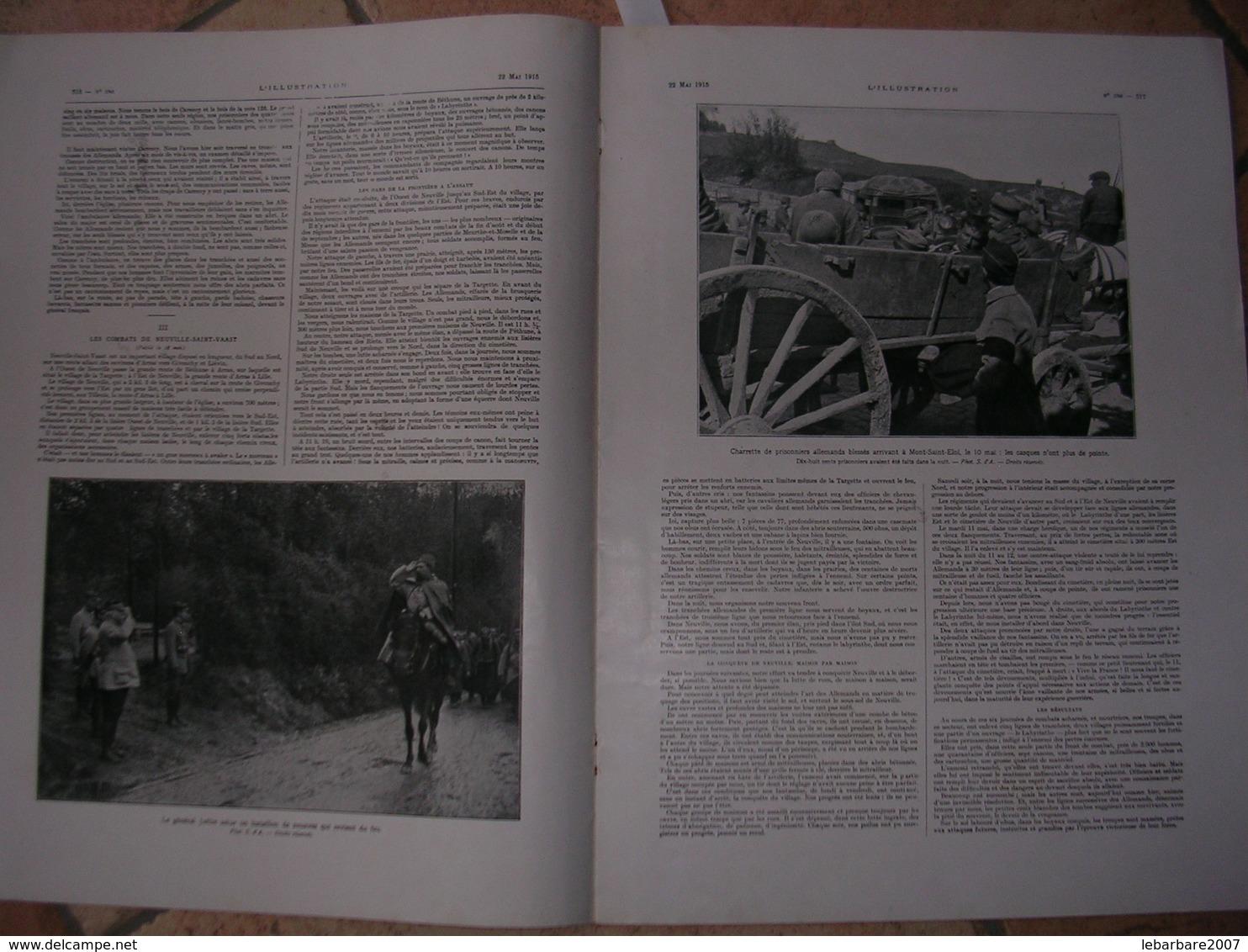 L'ILLUSTRATION  N° 3768 - 22 MAI 1915 - Newspapers