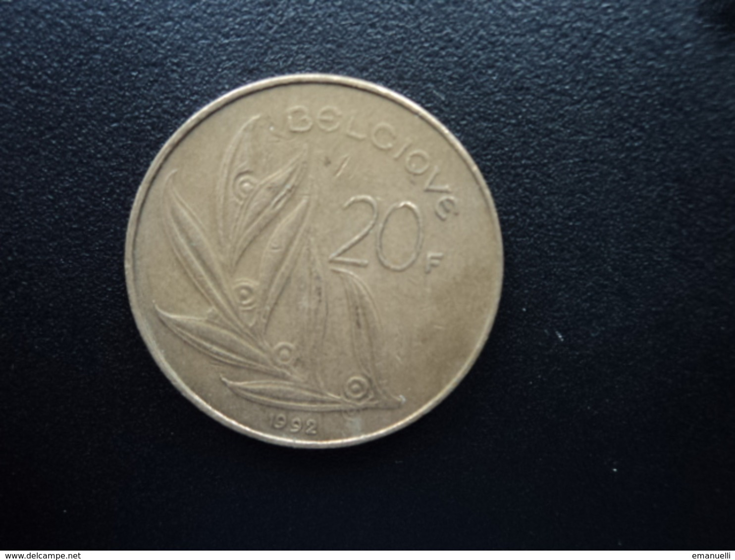 BELGIQUE : 20 FRANCS  1992  KM 159   TTB - 07. 20 Francs