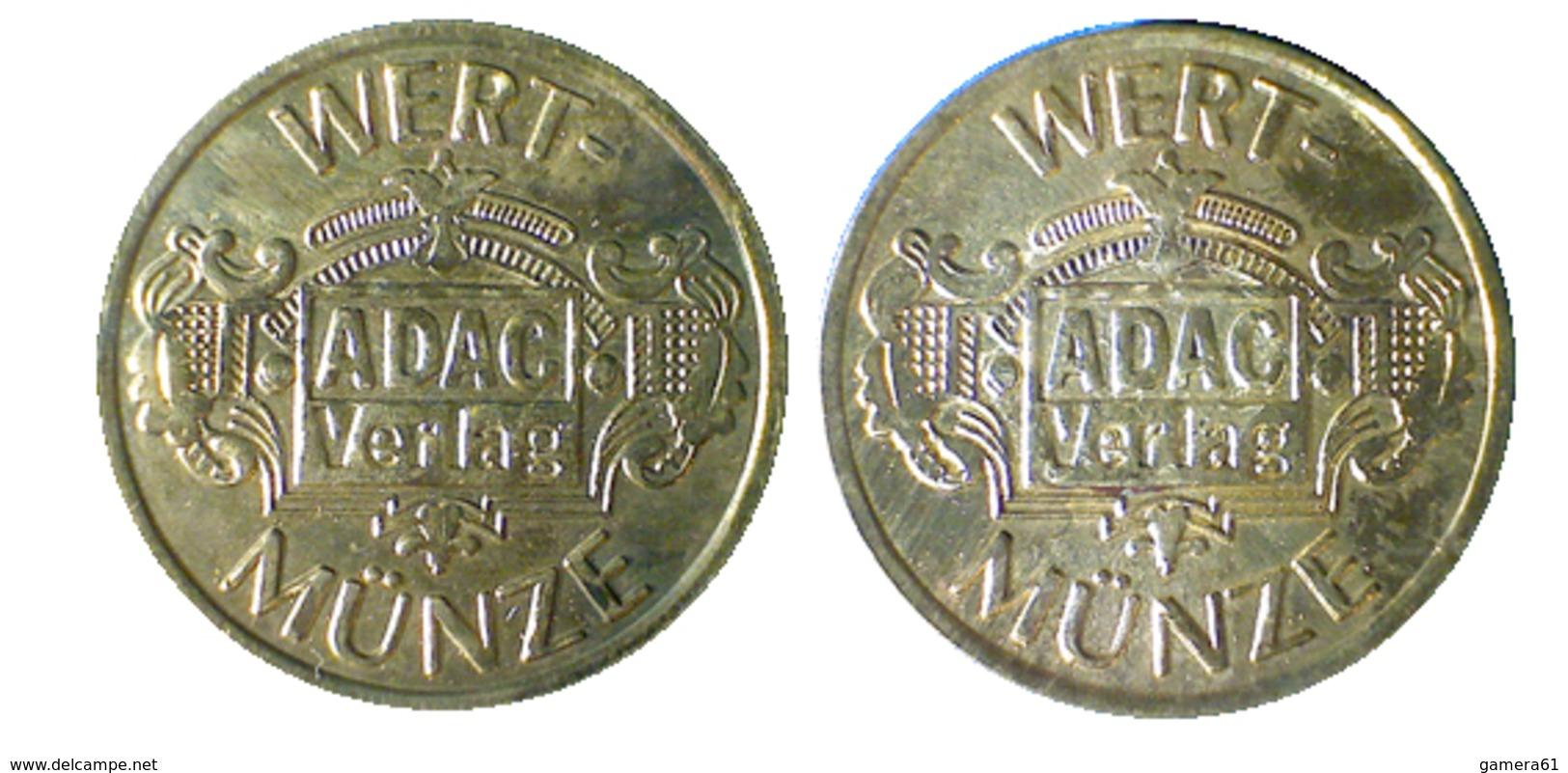 02180 GETTONE JETON TOKEN ADVERTISING VENDING WERT MUNZE ADAC VERLANG - Allemagne