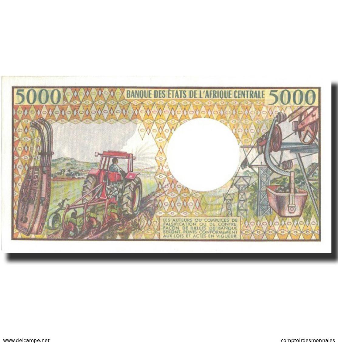 Billet, Chad, 5000 Francs, Undated (1984-91), Undated, KM:11, SPL+ - Ciad