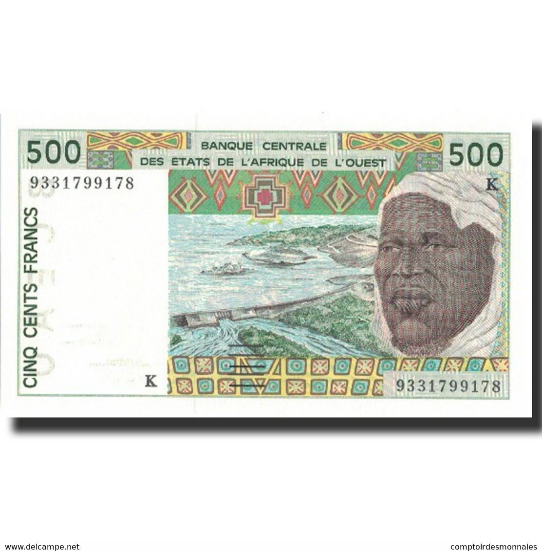 Billet, West African States, 500 Francs, 1993, 1993, KM:710Kc, NEUF - West African States